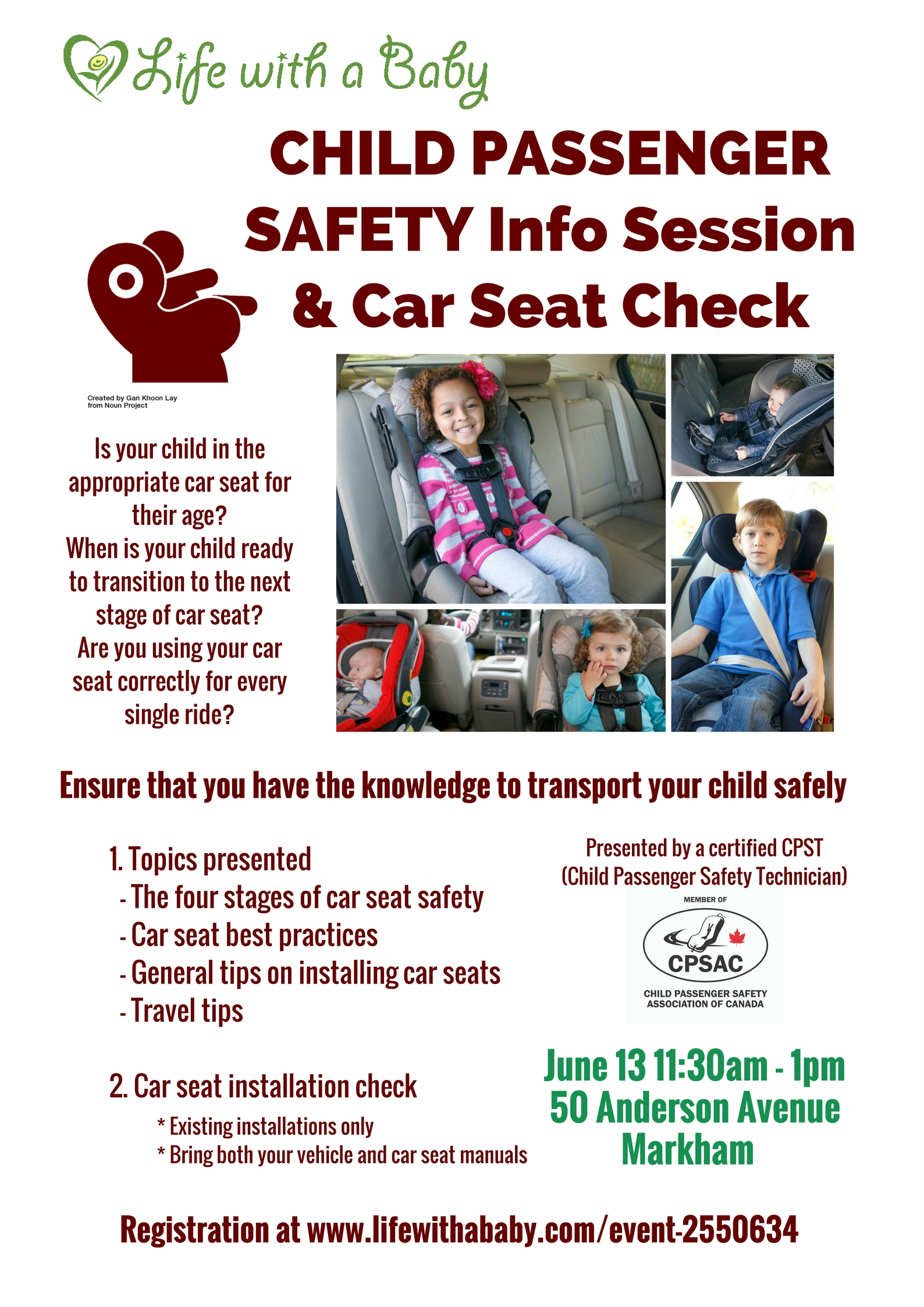 Life With A Baby - Child Passenger Safety & Car Seat Check