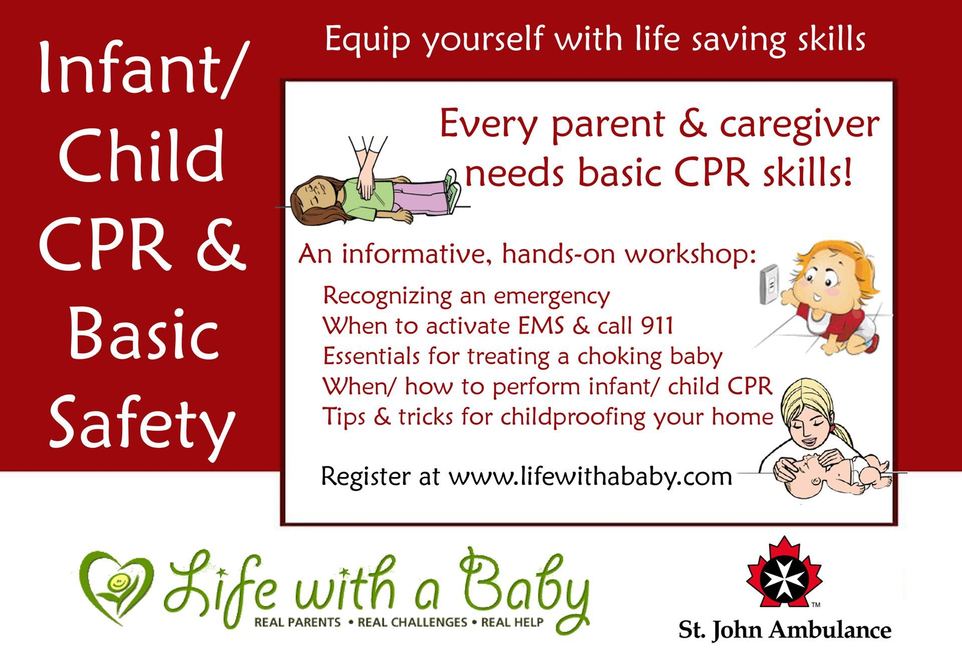 Life With A Baby Infant Child Cpr And Home Safety Workshop Barrie