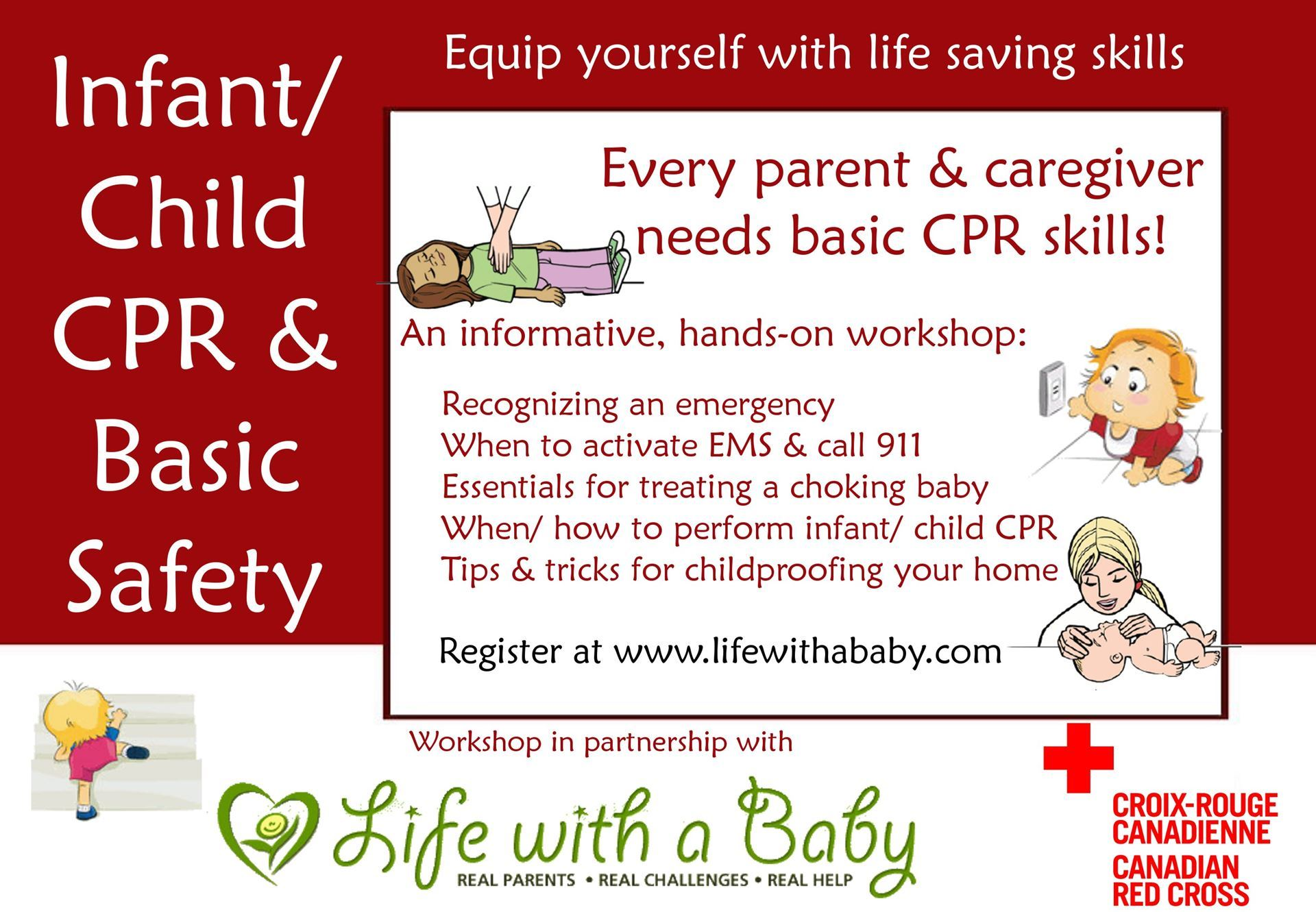 Life With A Baby Basic Infant Child First Aid Cpr Workshop