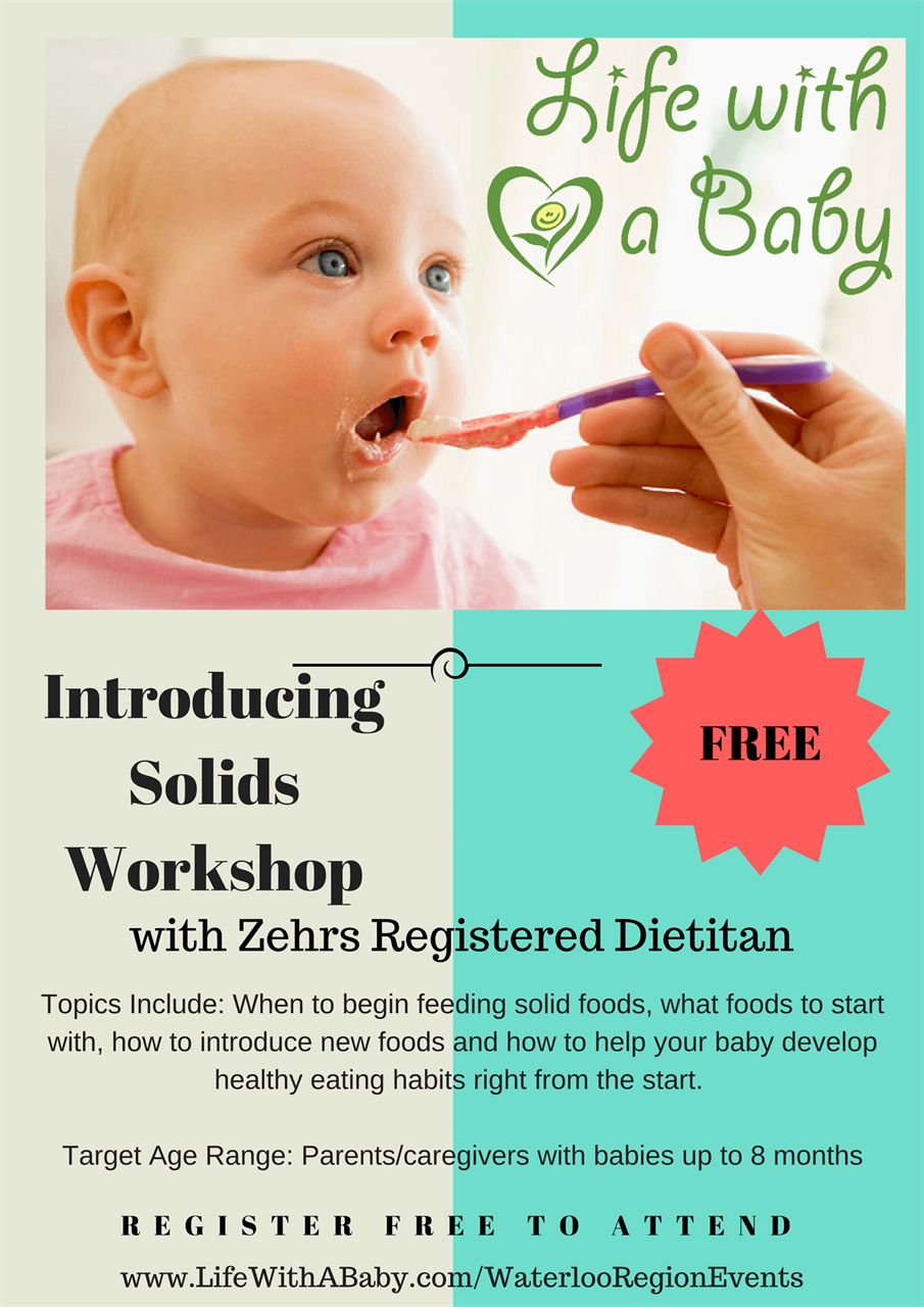 Life With A Baby - Introducing Solids Workshop (Kitchener)