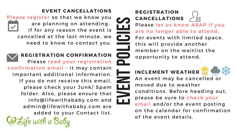 Life With A Baby - Event Calendar