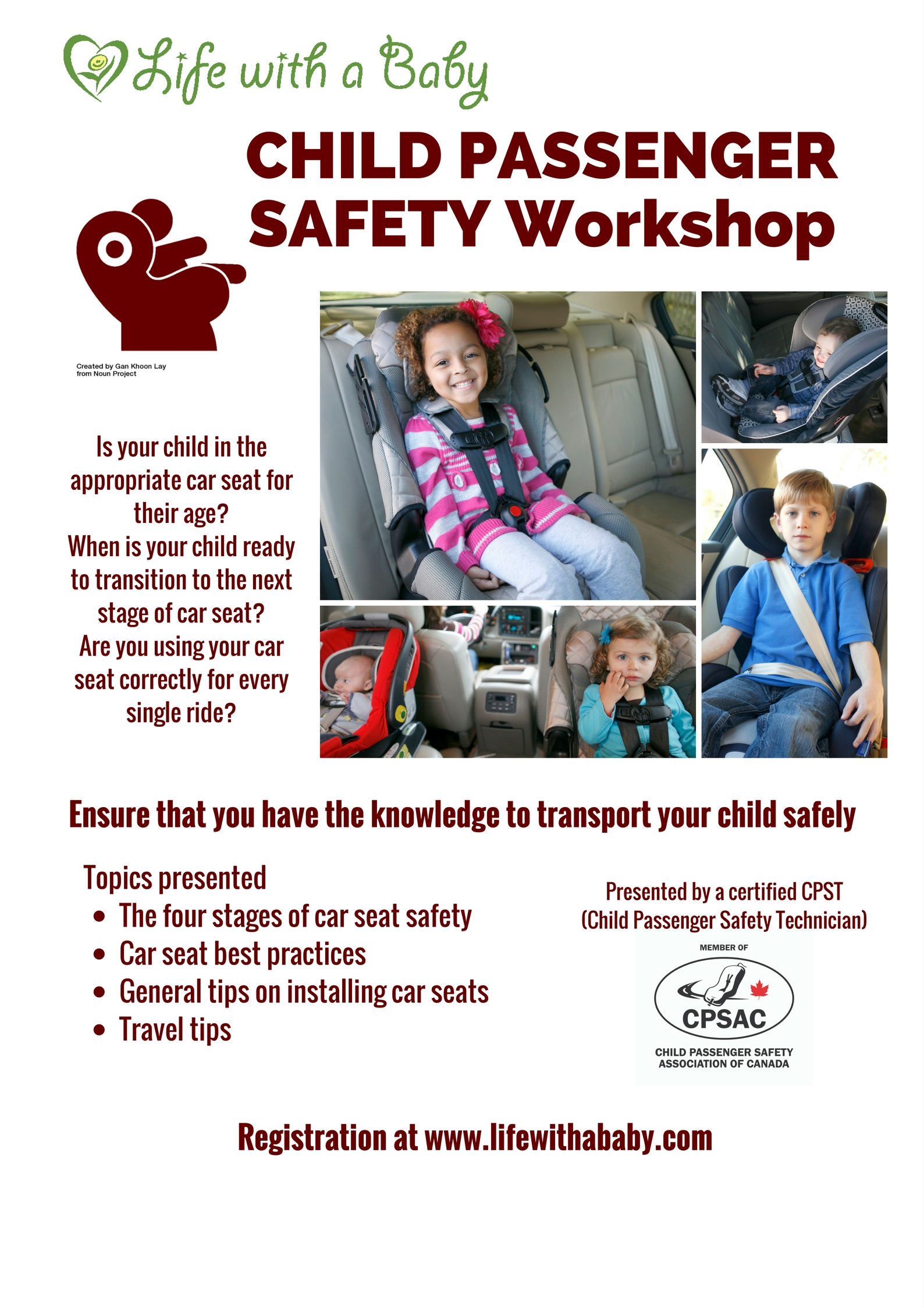 Life with a baby expert talk car seat safety vaughan registration 1betcityfo Gallery
